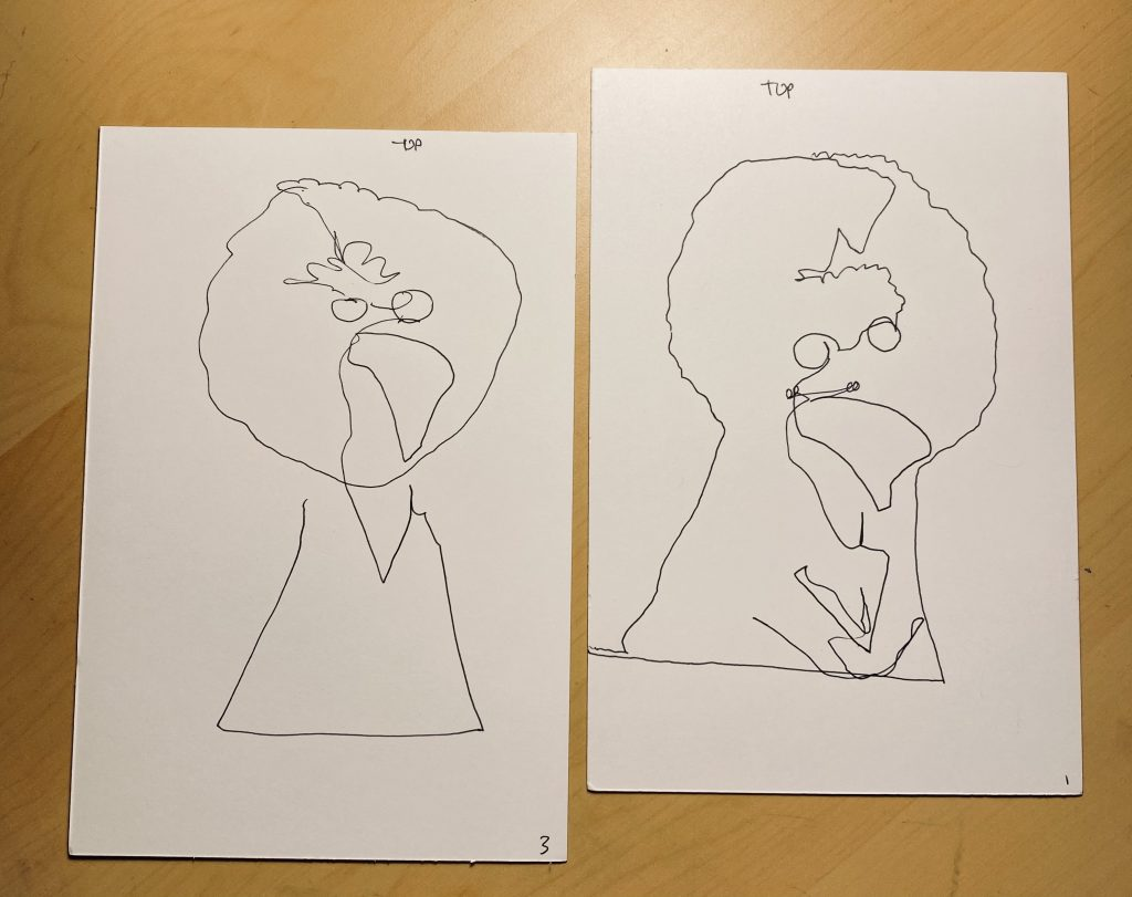 Multiple attempts Big Bird Blind Contour