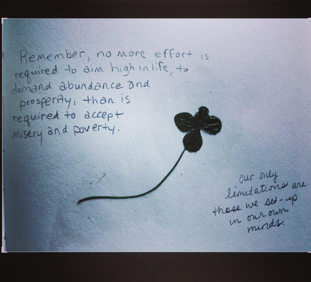 4 leaf clover scrapbook