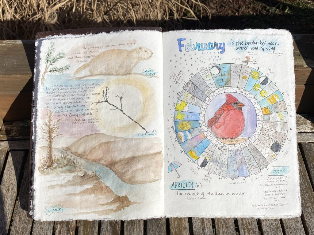 February Phenology Wheel and Nature Page