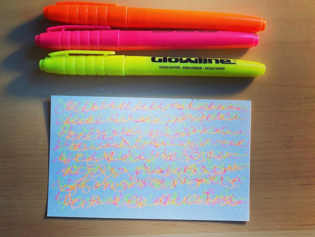 Fake handwriting as meditative practice