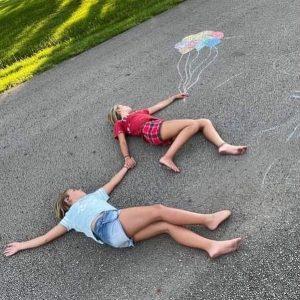 Neighbor kids being creative