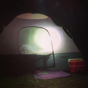 Girls only campout