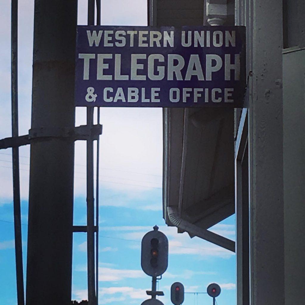 Vintage sign at the HVRM.