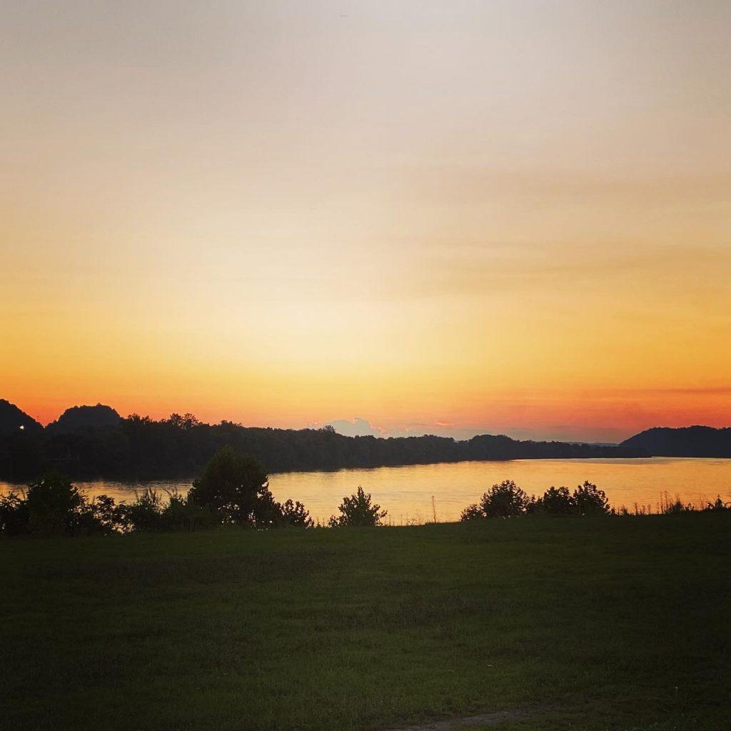 Sunset in Ironton, Ohio August 2021