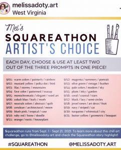 Mel's Squareathon Chill Art Challenge