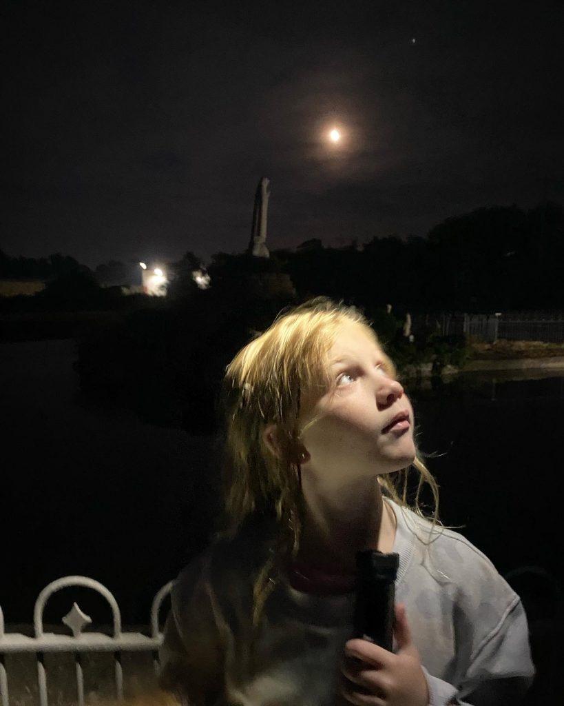 Ellie under the Harvest Moon