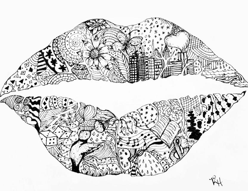 Doodle lips